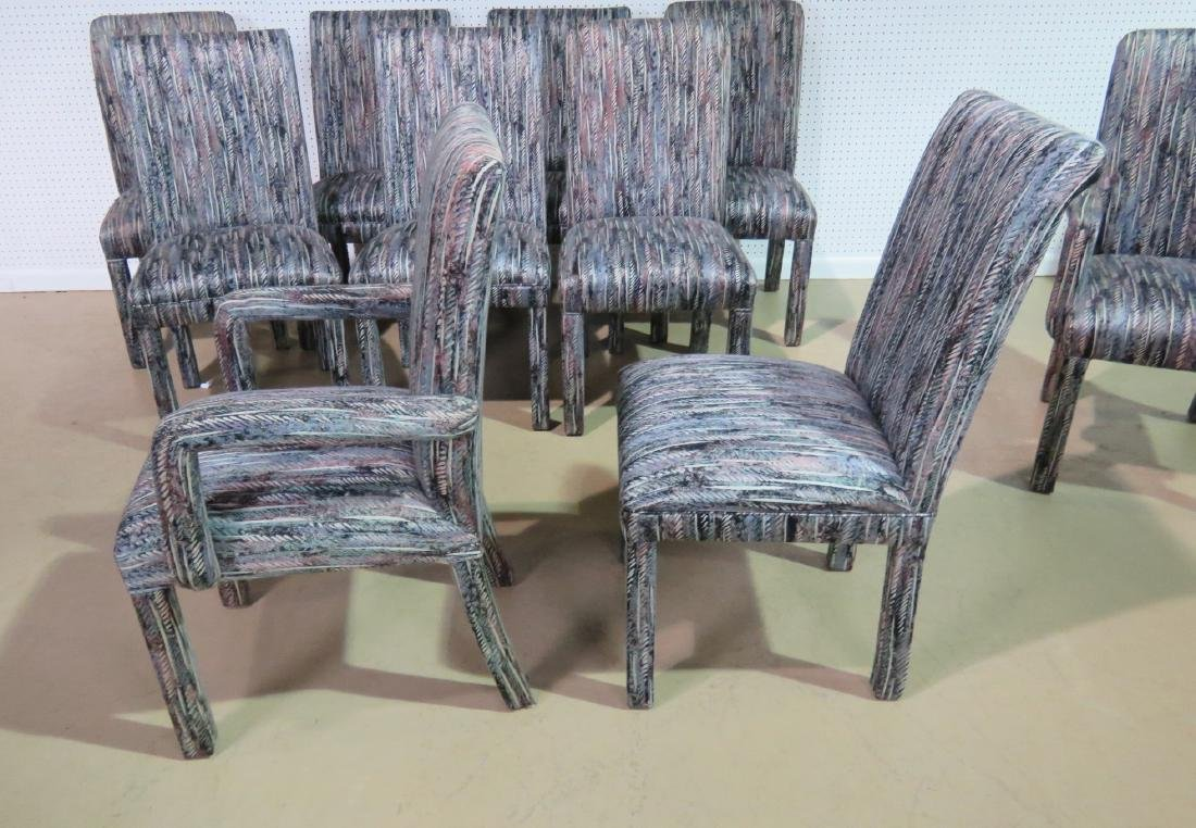 THIRTEEN PARSONS STYLE DINING CHAIRS - 4