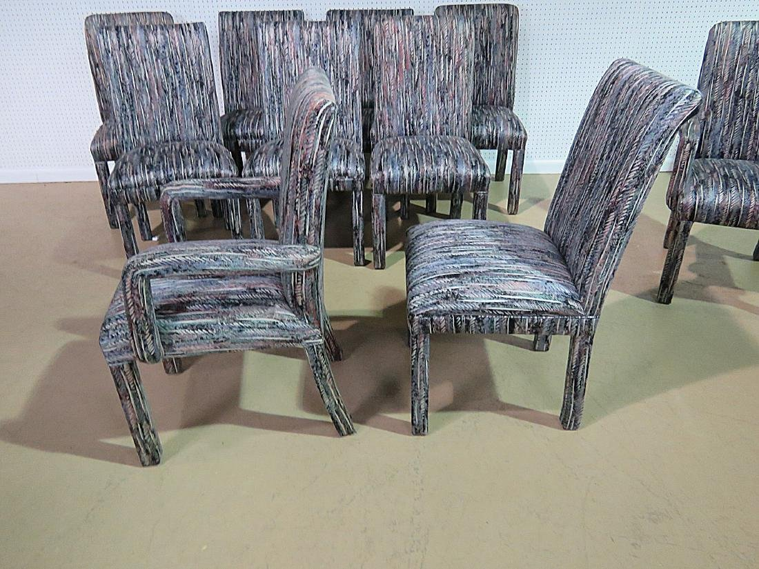 THIRTEEN PARSONS STYLE DINING CHAIRS - 5