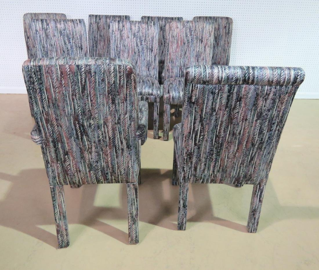 THIRTEEN PARSONS STYLE DINING CHAIRS - 6