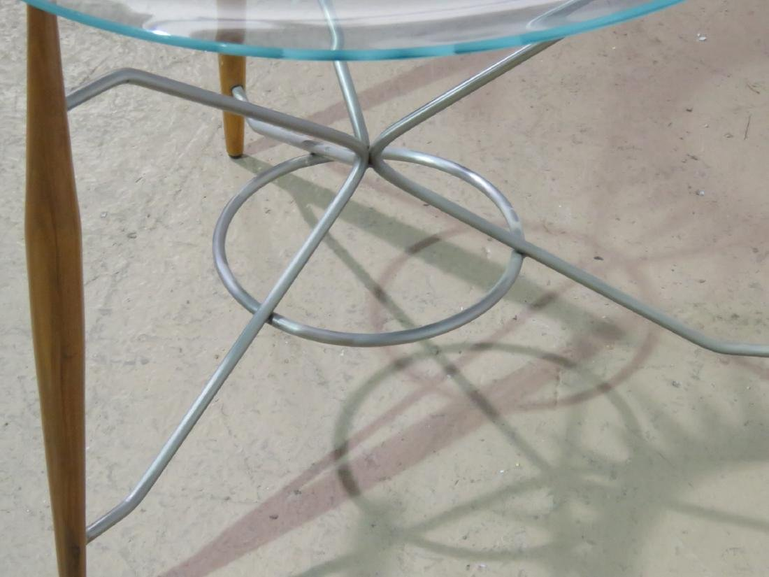 GIO PONTI STYLE GLASS TOP TRAY TABLE - 4
