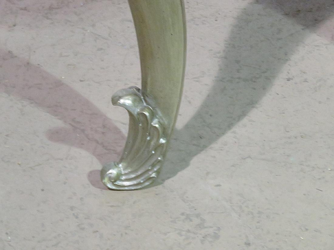 Pair FRENCH MODERN SILVER LEAF STANDS - 3