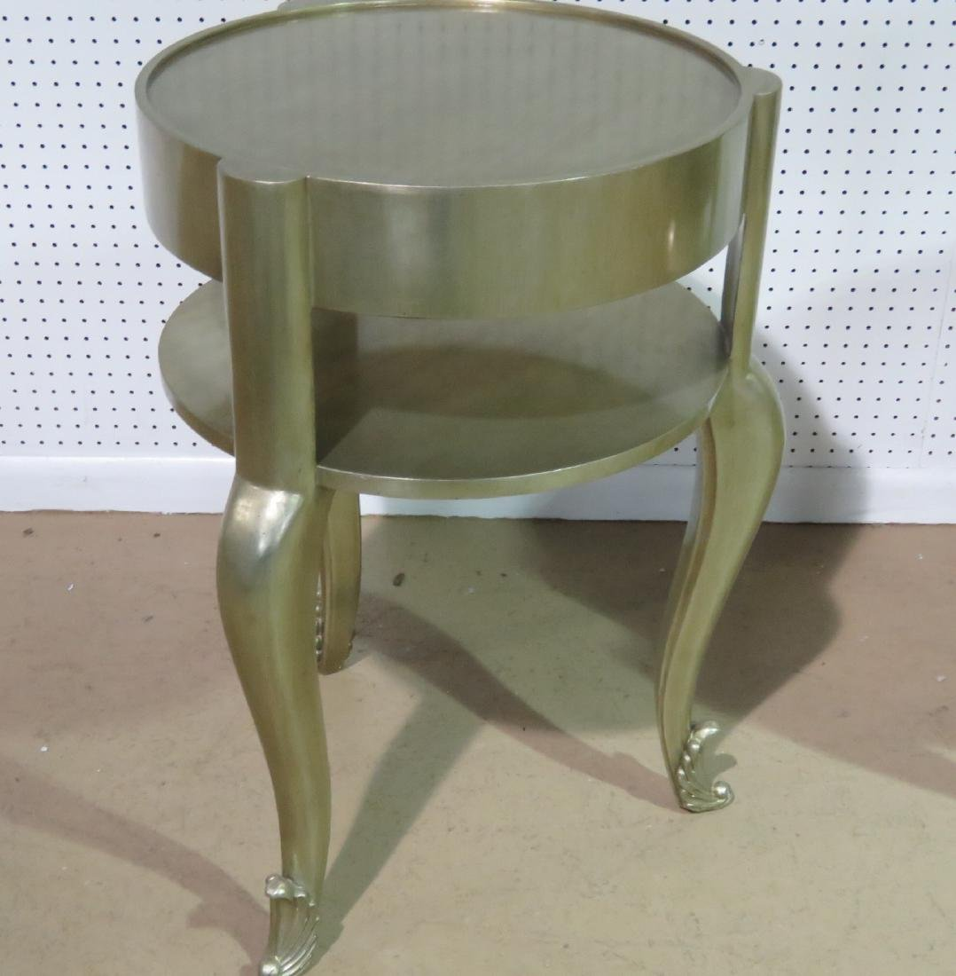 Pair FRENCH MODERN SILVER LEAF STANDS - 5