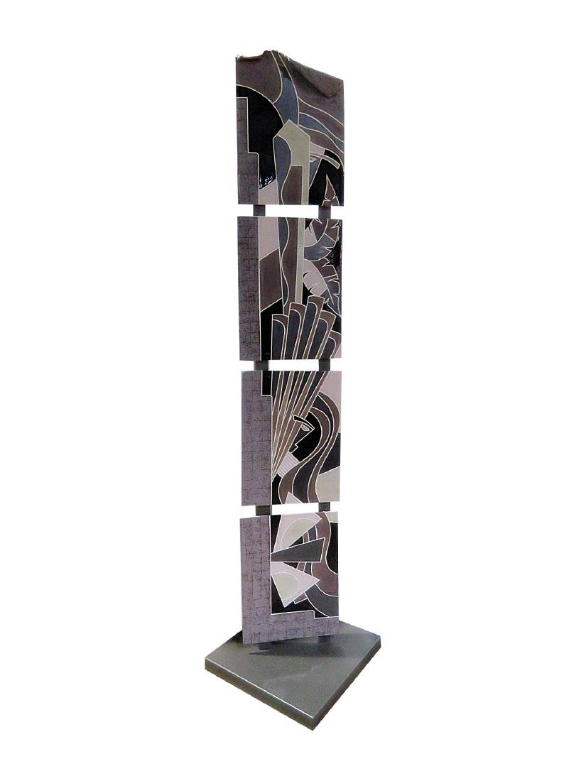 7 FOOT MODERN CERAMIC PLAQUE TOWER