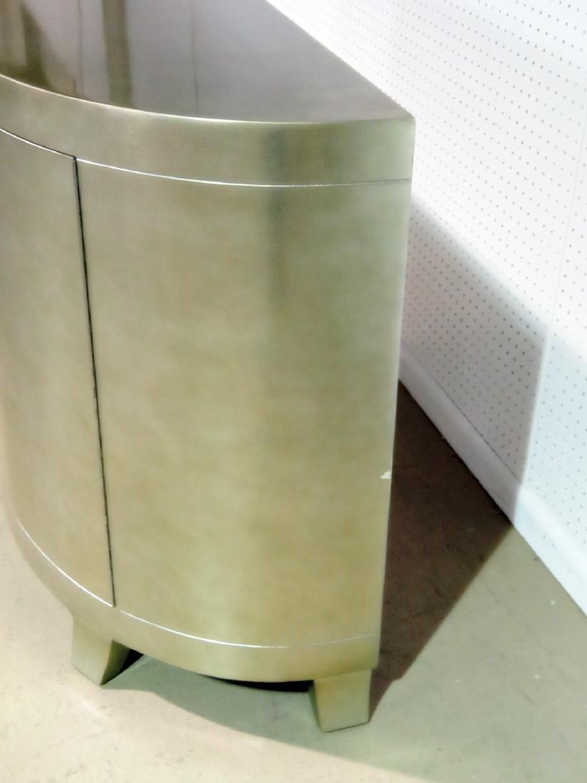 MODERN DECO INSPIRED SILVER LEAF CABINET - 7
