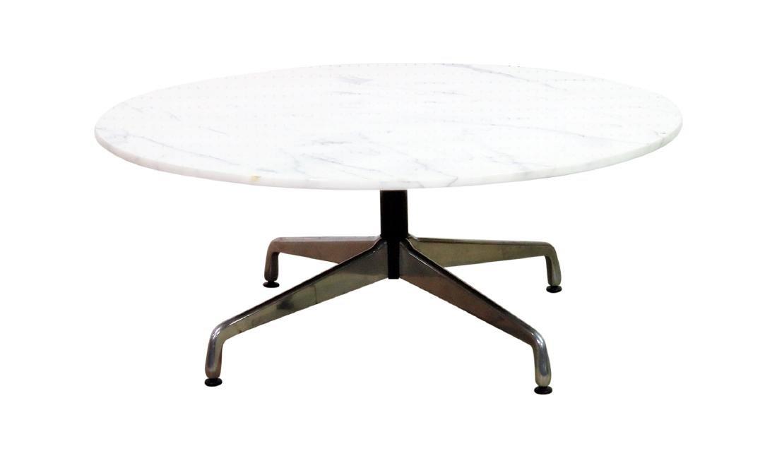 MARBLE TOP COFFEE TABLE attributed HERMAN MILLER