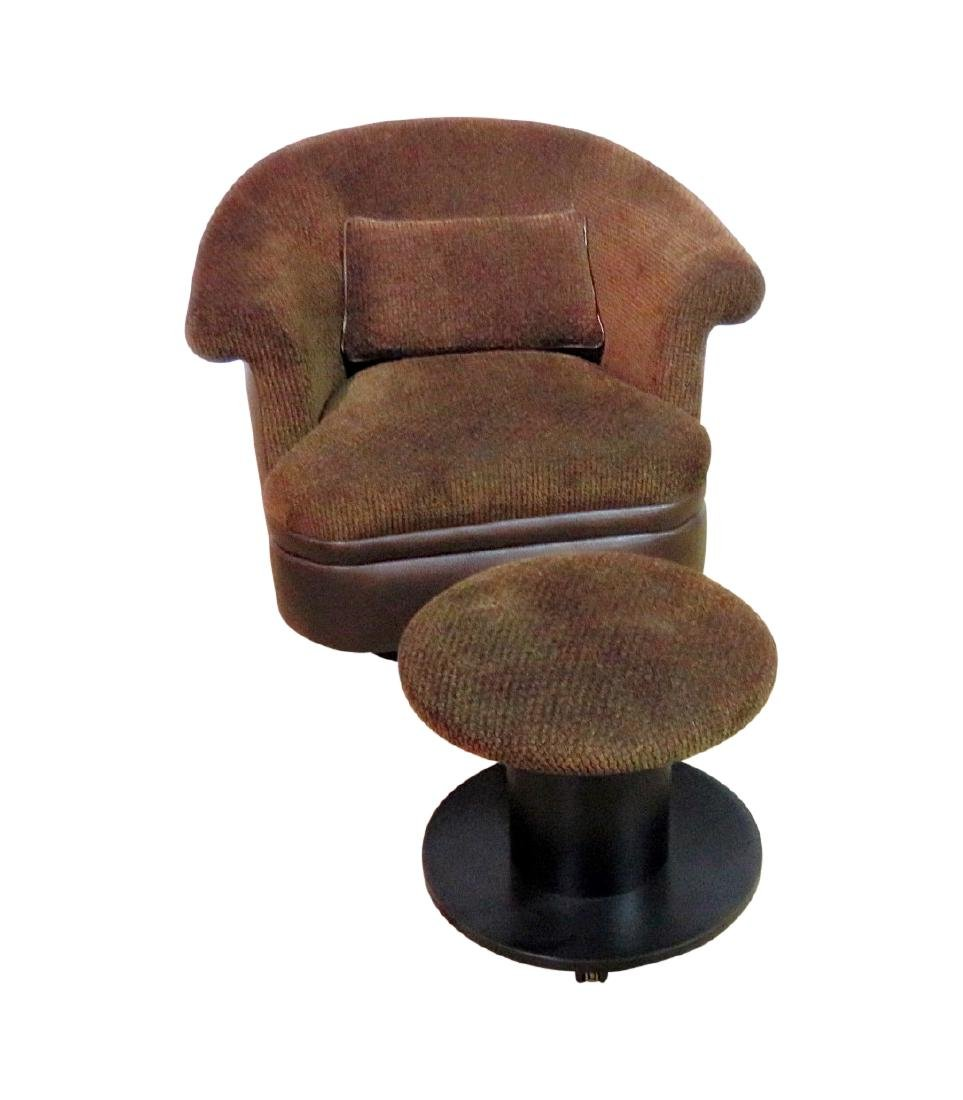 BAUGHMAN STYLE CLUB CHAIR with OTTOMAN