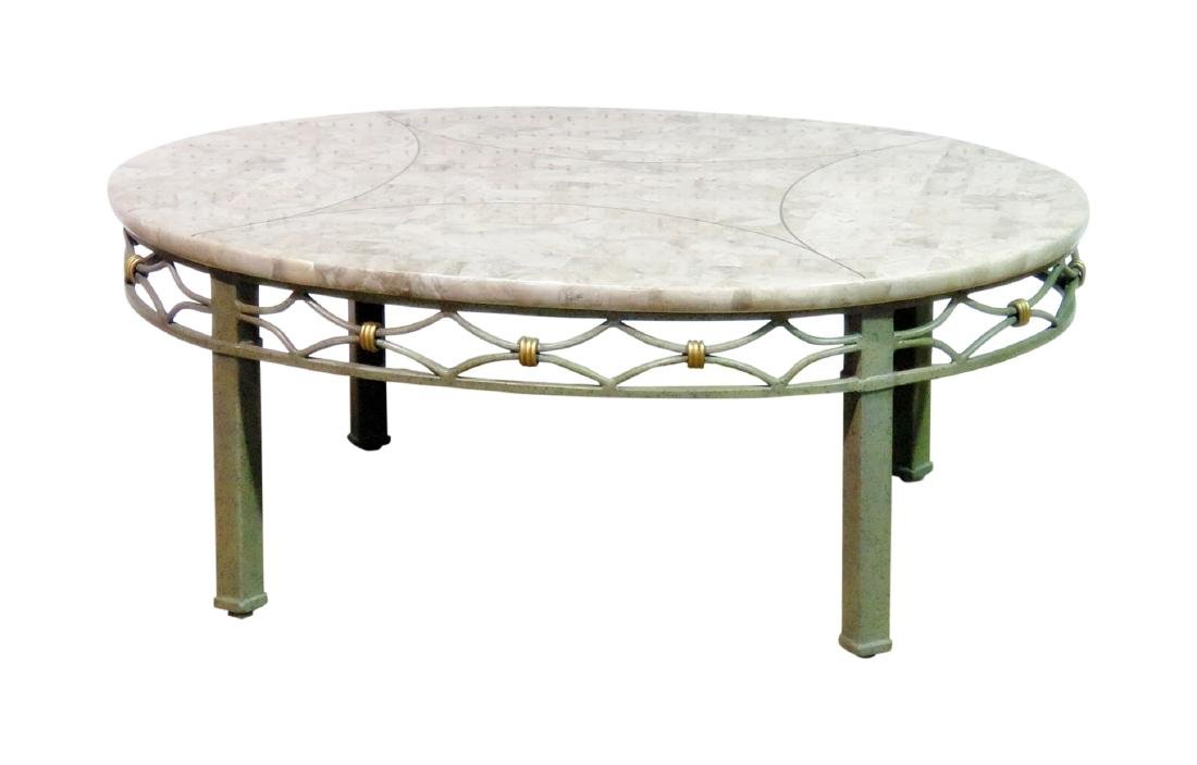 DESIGNER TESSELLATED TOP COFFEE TABLE