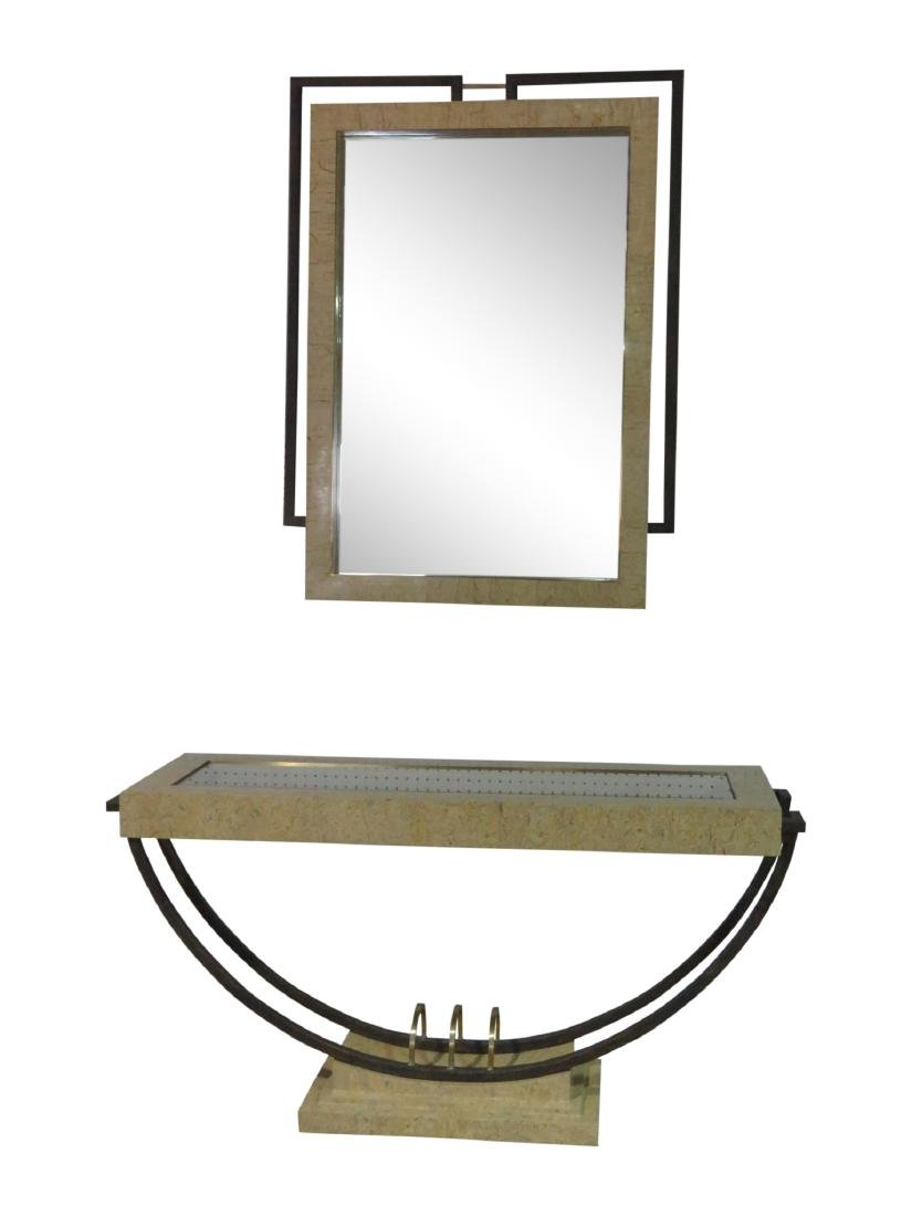 MODERN DESIGN CONSOLE TABLE with MIRROR