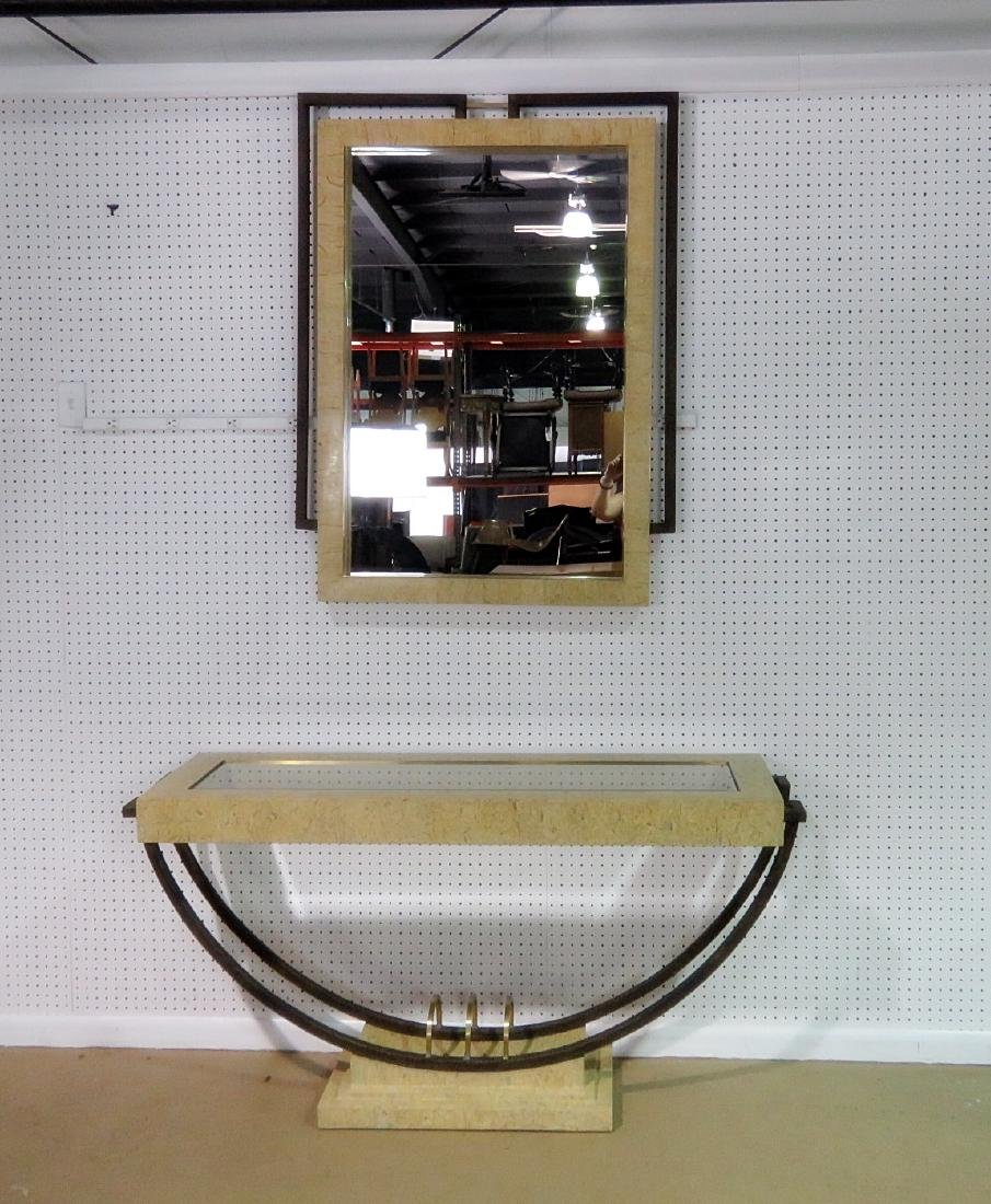MODERN DESIGN CONSOLE TABLE with MIRROR - 2