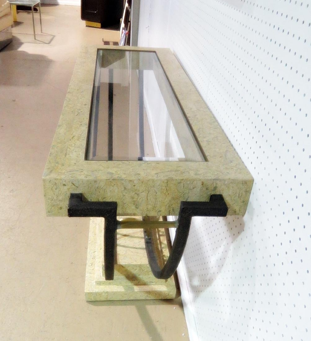MODERN DESIGN CONSOLE TABLE with MIRROR - 4