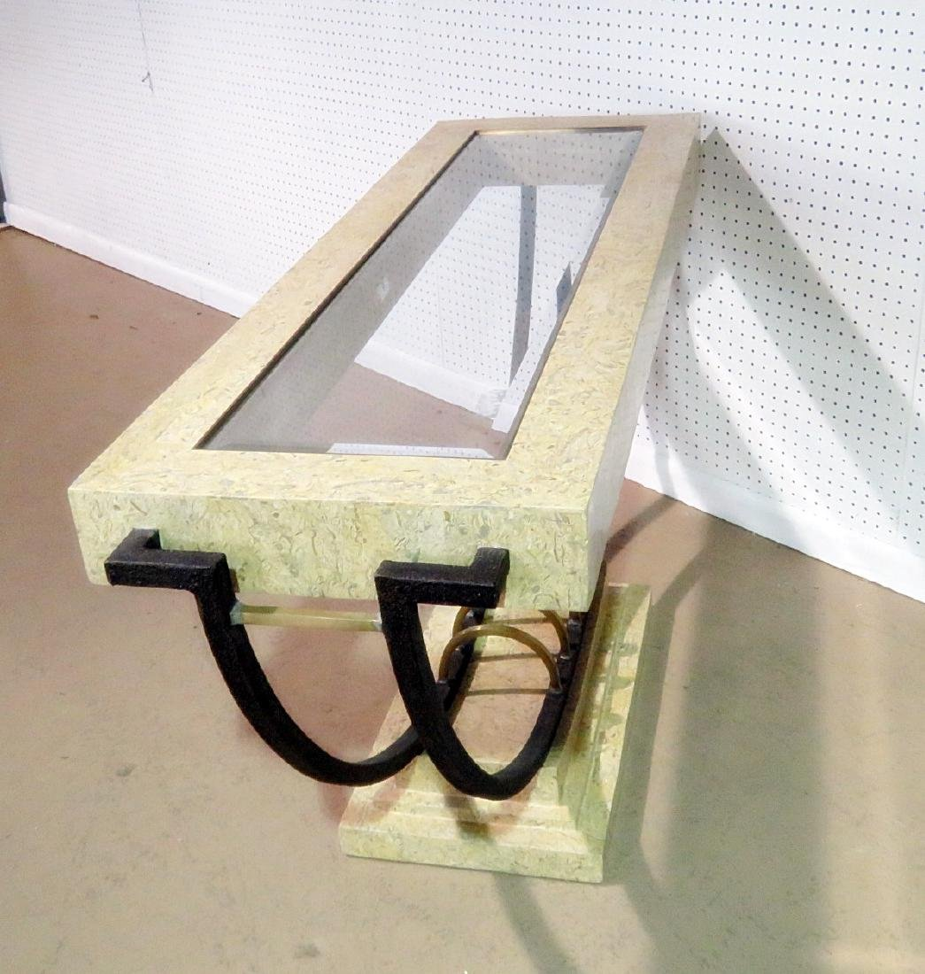 MODERN DESIGN CONSOLE TABLE with MIRROR - 9