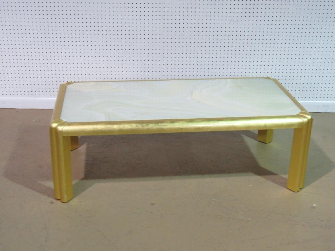 HOLLYWOOD REGENCY STYLE COFFEE TABLE - 2