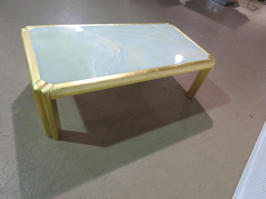 HOLLYWOOD REGENCY STYLE COFFEE TABLE - 5