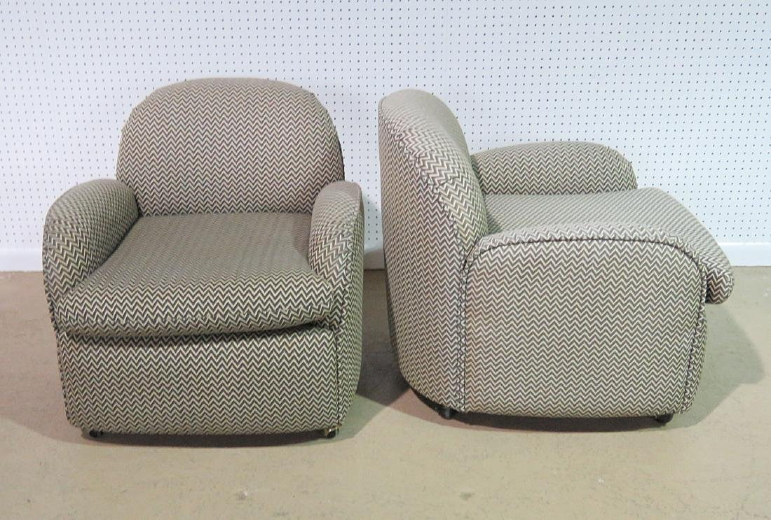 Pair VLADIMIR KAGAN for PREVIEW UPHOLSTERED CLUB CHAIRS - 3