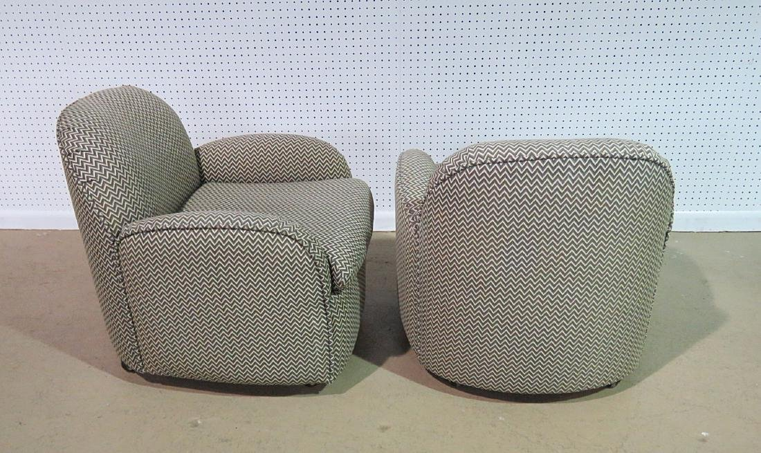 Pair VLADIMIR KAGAN for PREVIEW UPHOLSTERED CLUB CHAIRS - 8
