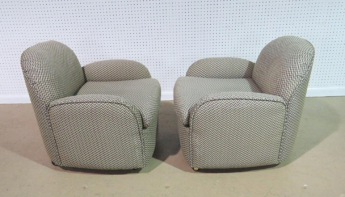 Pair VLADIMIR KAGAN for PREVIEW UPHOLSTERED CLUB CHAIRS - 9