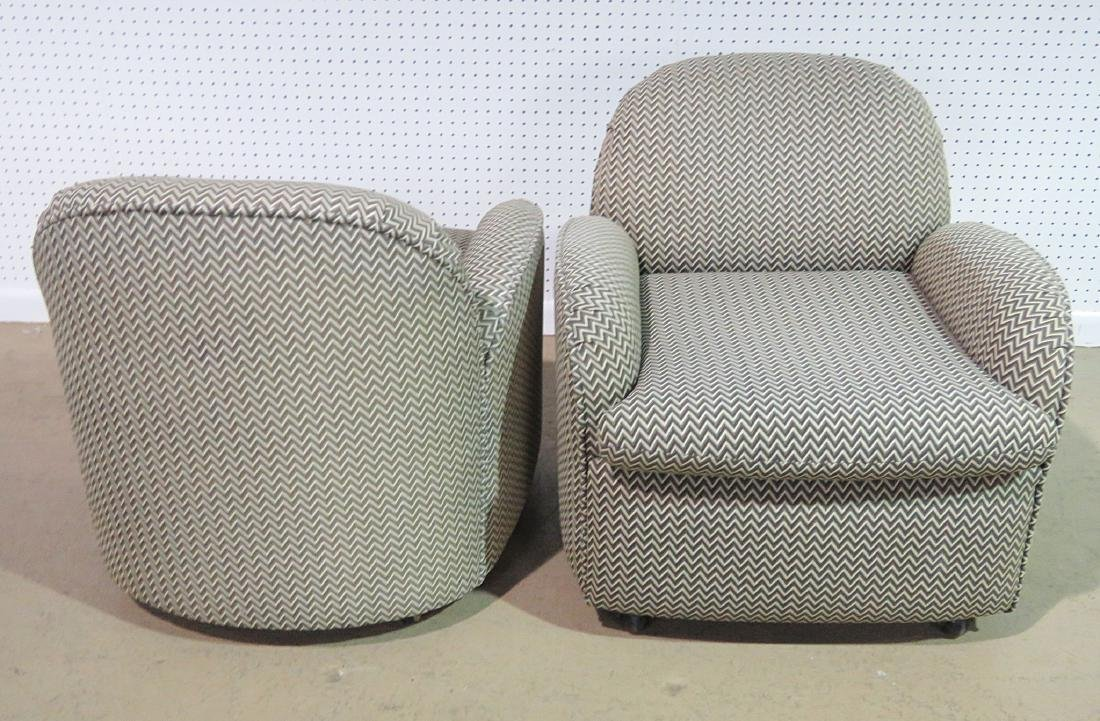 Pair VLADIMIR KAGAN for PREVIEW UPHOLSTERED CLUB CHAIRS - 2