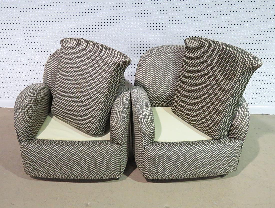 Pair VLADIMIR KAGAN for PREVIEW UPHOLSTERED CLUB CHAIRS - 4