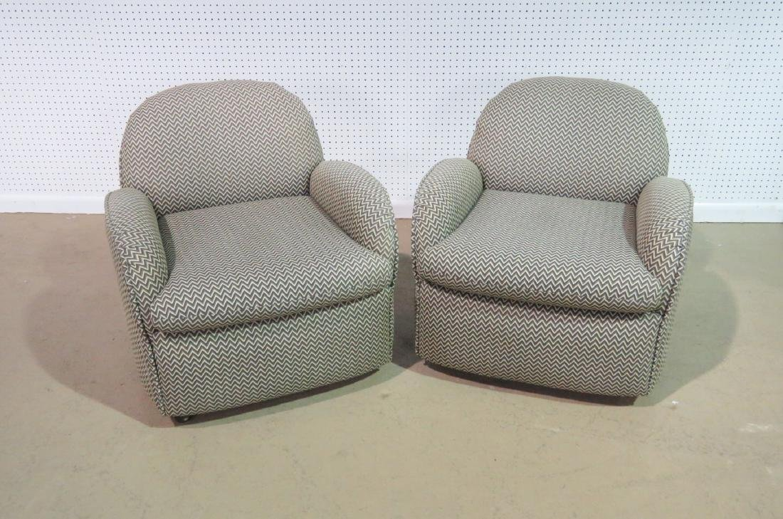 Pair VLADIMIR KAGAN for PREVIEW UPHOLSTERED CLUB CHAIRS - 6