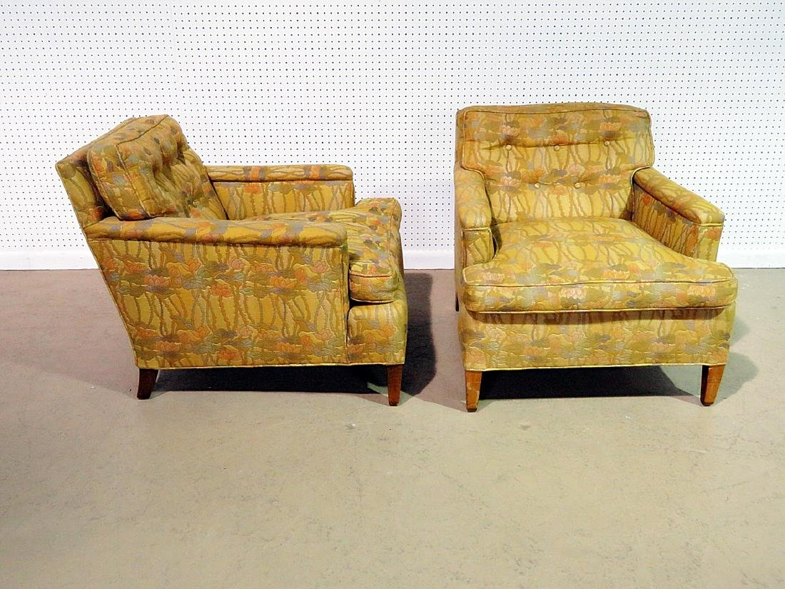 Pair UPHOLSTERED CLUB CHAIRS attributed to DUNBAR - 2