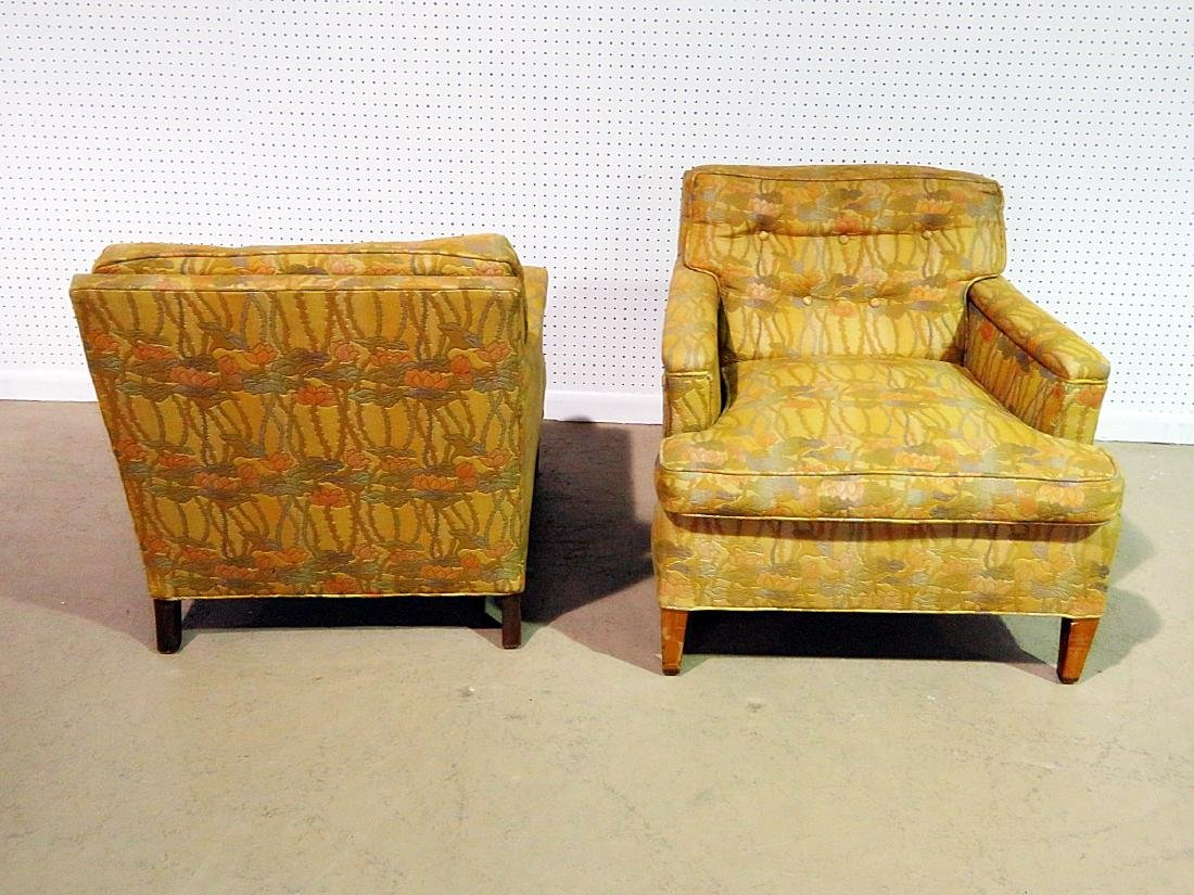 Pair UPHOLSTERED CLUB CHAIRS attributed to DUNBAR - 3