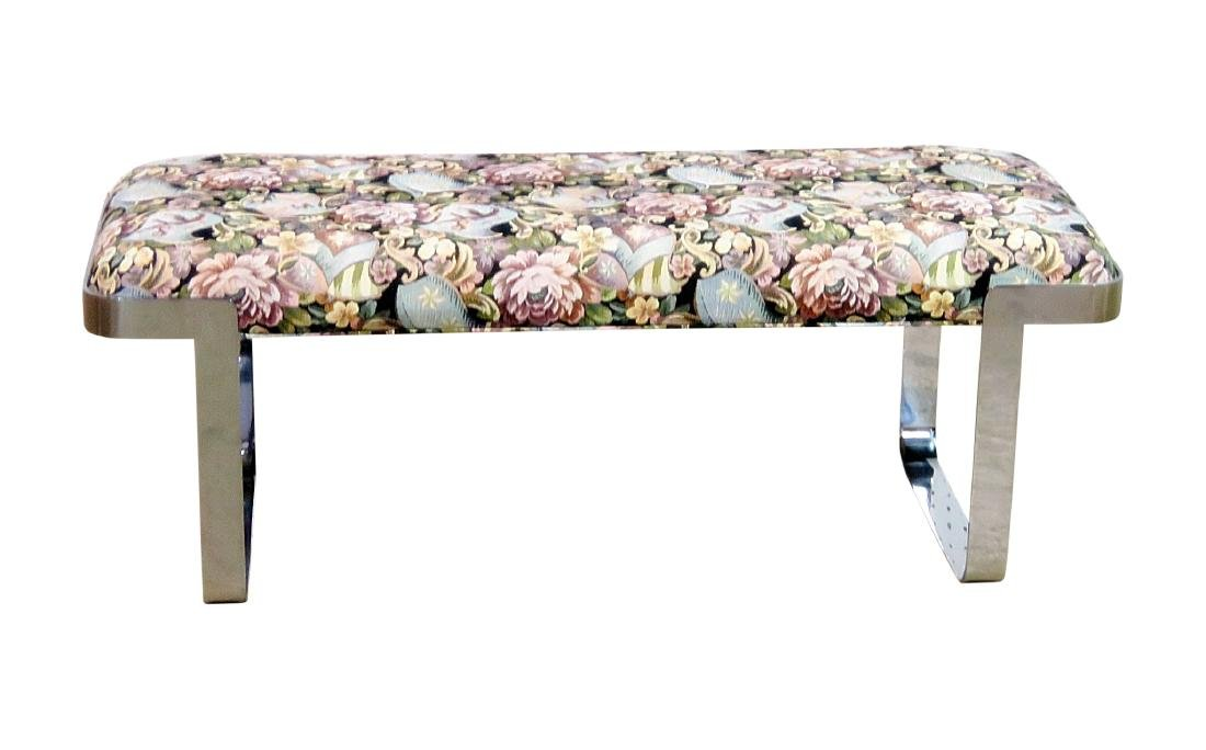 BAUGHMAN STYLE UPHOLSTERED BENCH