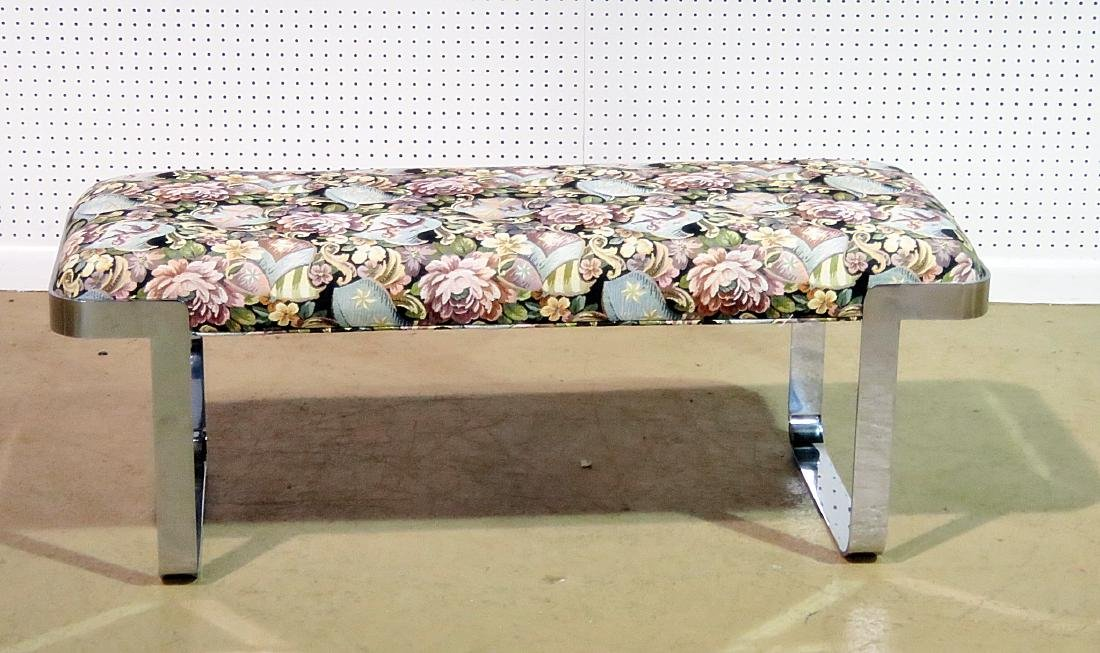 BAUGHMAN STYLE UPHOLSTERED BENCH - 2