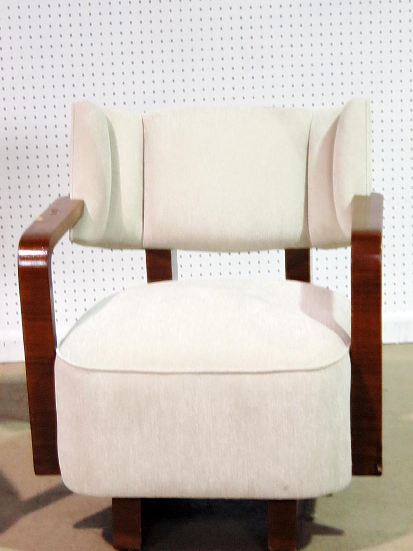 Pair MODERN DECO INSPIRED ROSEWOOD CLUB CHAIRS - 3