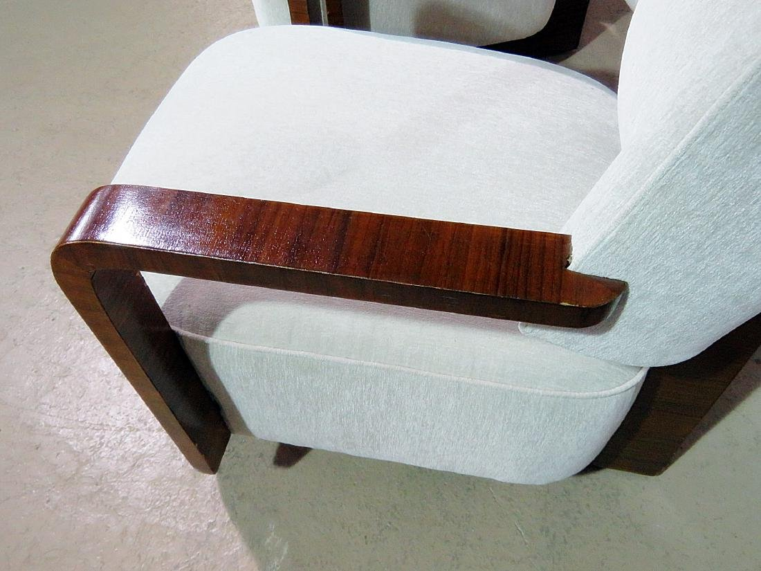 Pair MODERN DECO INSPIRED ROSEWOOD CLUB CHAIRS - 5