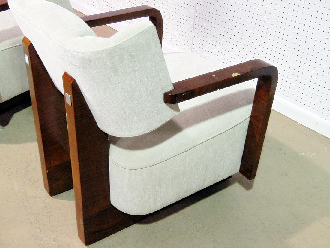 Pair MODERN DECO INSPIRED ROSEWOOD CLUB CHAIRS - 8