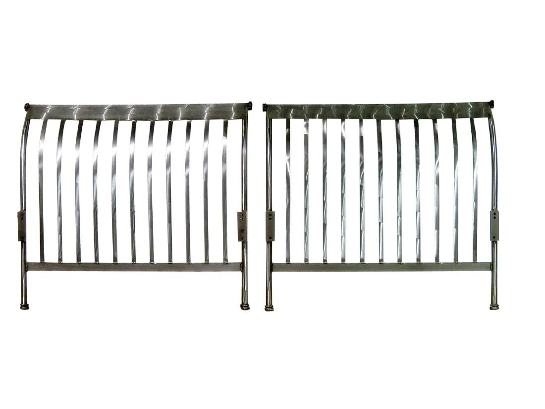 POLISHED STAINLESS STEEL DAY BED