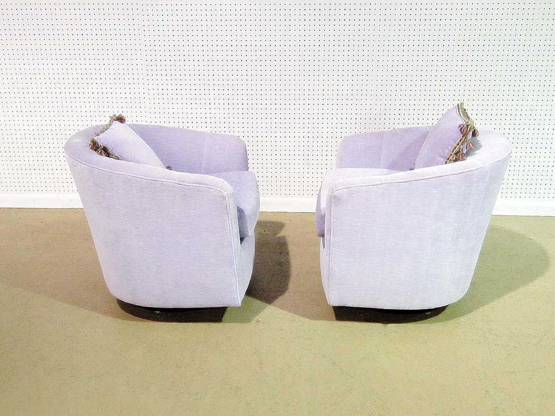 Pair MILO BAUGHMAN STYLE CLUB CHAIRS with ONE OTTOMAN - 3