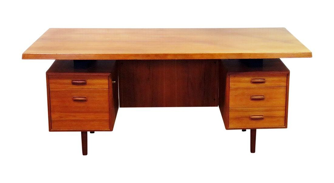 DANISH MID CENTURY MODERN FLOATING TOP DESK