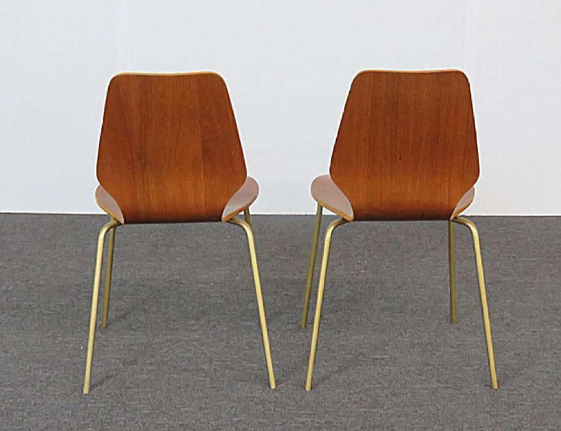 SIX MID CENTURY MODERN BENT PLYWOOD CHAIRS - 5