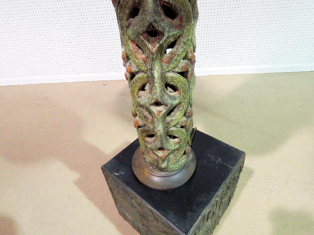 ITALIAN POTTERY BRUTALIST STYLE LAMP - 2