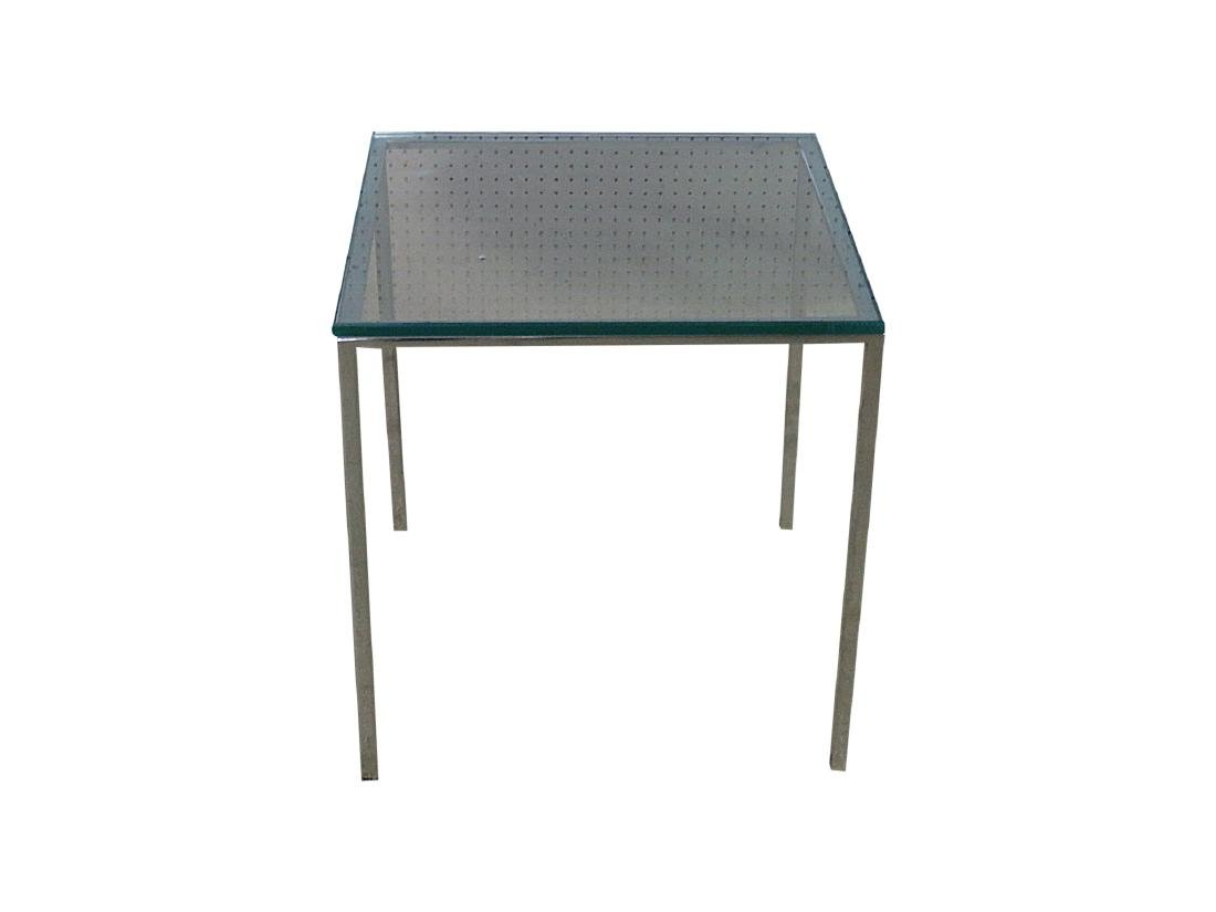 KNOLL STYLE GLASS TOP COFFEE TABLE