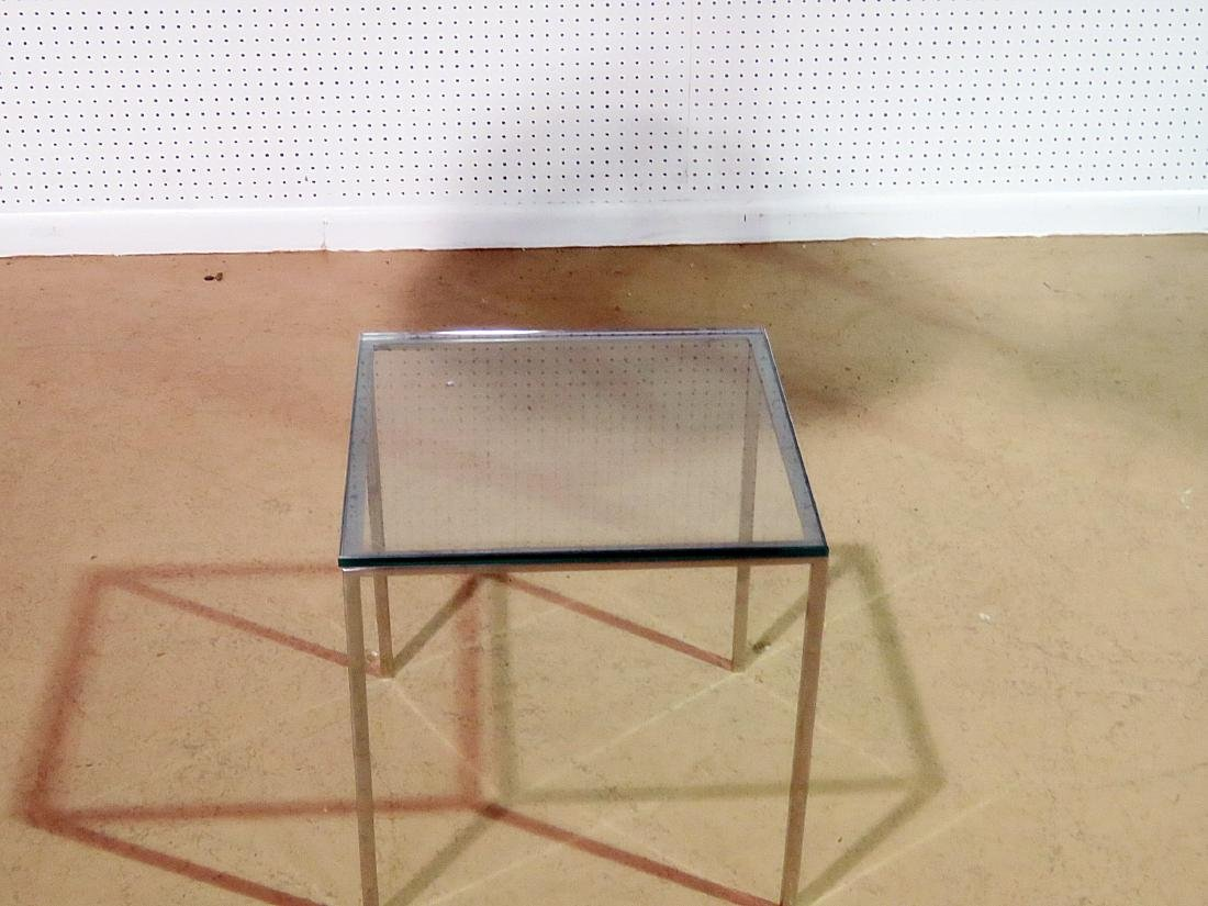 KNOLL STYLE GLASS TOP COFFEE TABLE - 2