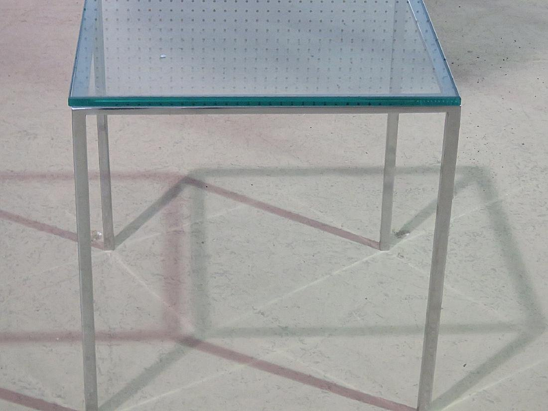KNOLL STYLE GLASS TOP COFFEE TABLE - 3