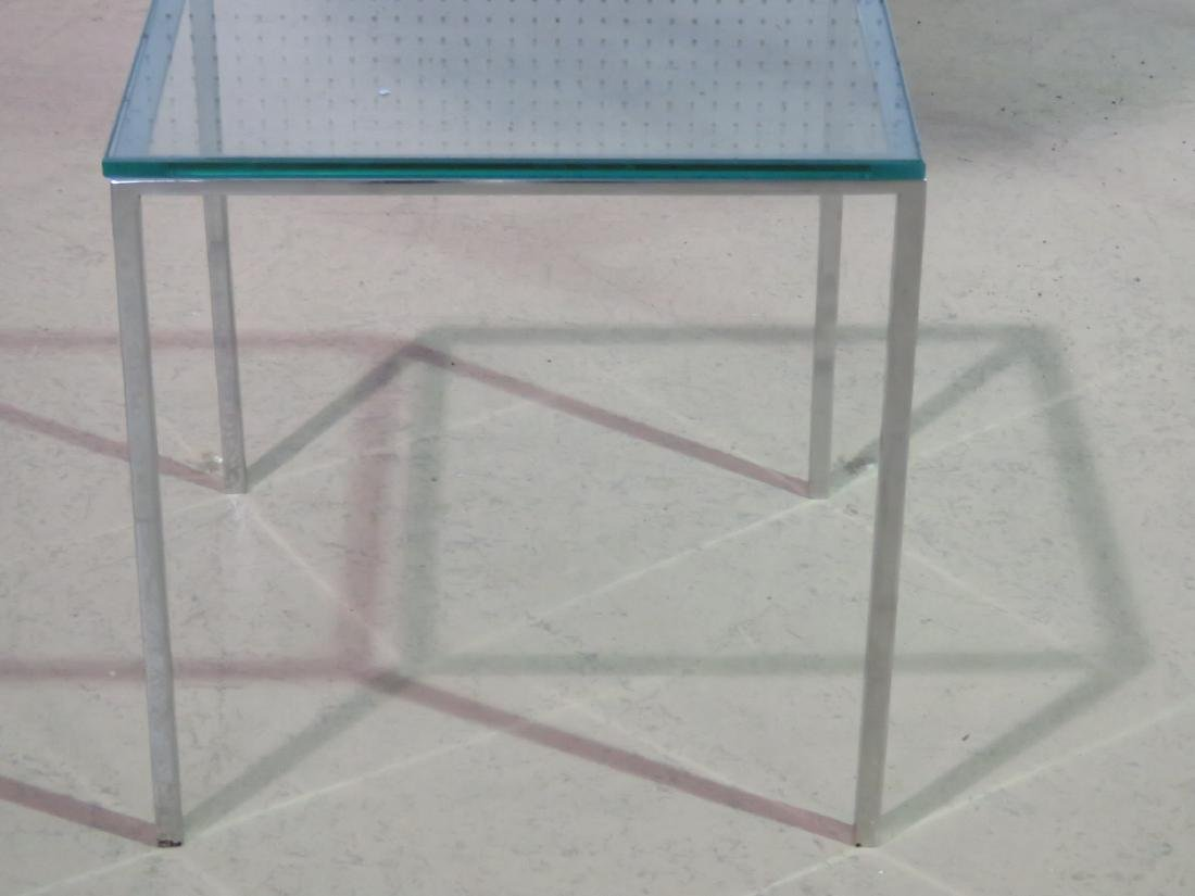 KNOLL STYLE GLASS TOP COFFEE TABLE - 4