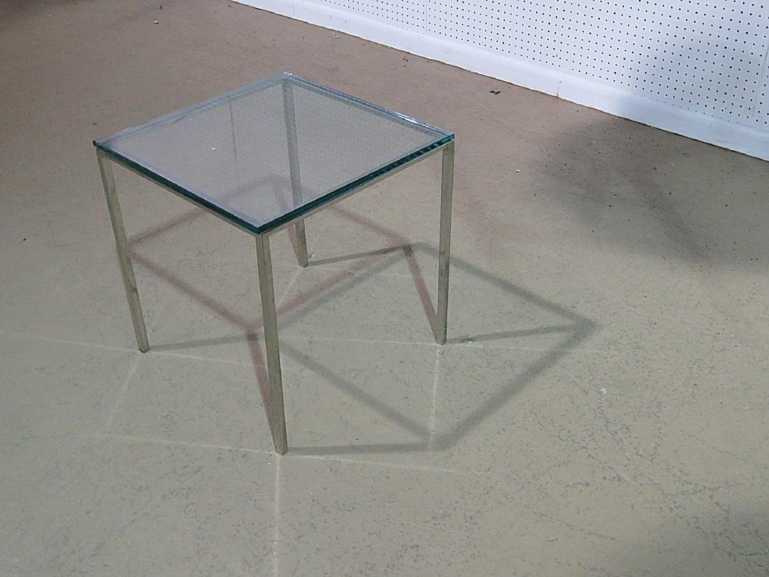 KNOLL STYLE GLASS TOP COFFEE TABLE - 5