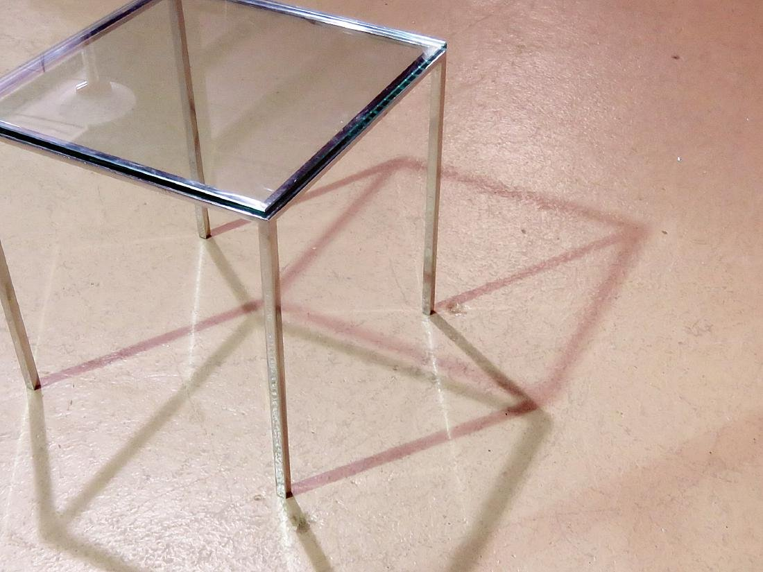 KNOLL STYLE GLASS TOP COFFEE TABLE - 7