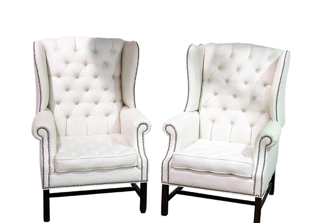 Pair GRAND MANOR FURNITURE INC. WING CHAIRS