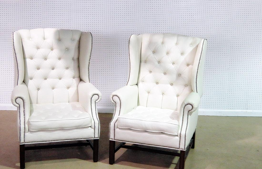 Pair GRAND MANOR FURNITURE INC. WING CHAIRS - 2