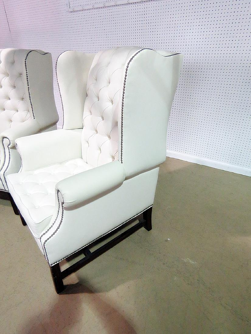 Pair GRAND MANOR FURNITURE INC. WING CHAIRS - 4