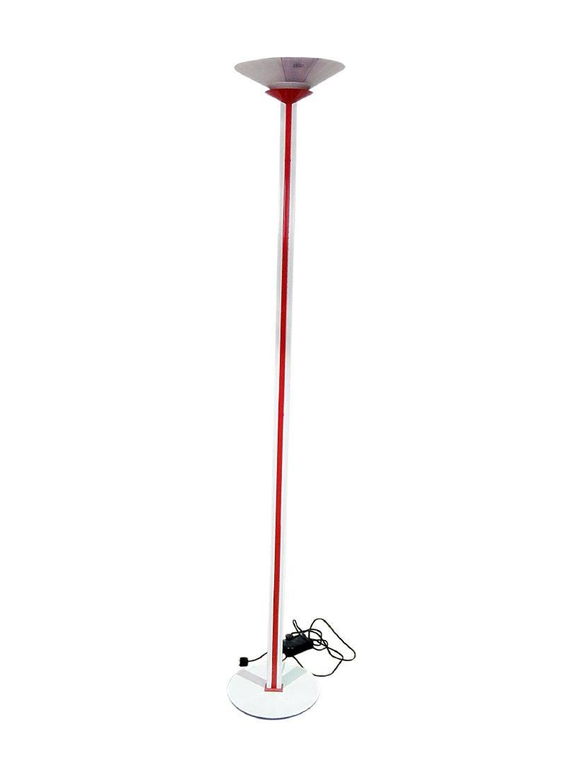 MID CENTURY MODERN TIFFANY STYLE FLOOR LAMP