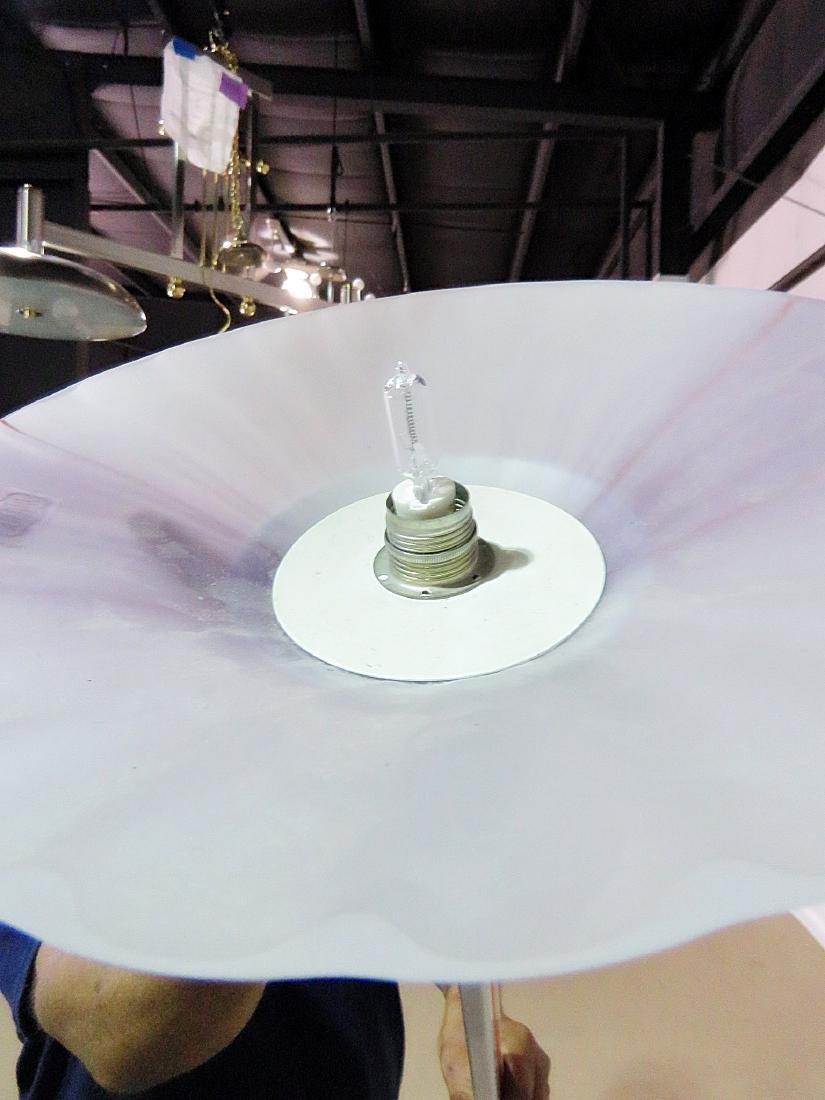 MID CENTURY MODERN TIFFANY STYLE FLOOR LAMP - 6