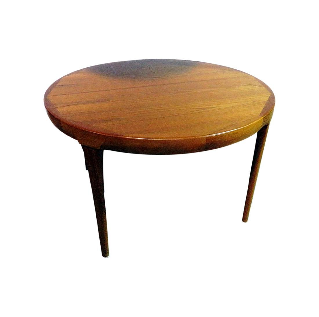 ROUND TEAK DINING TABLE attributed MOLLER