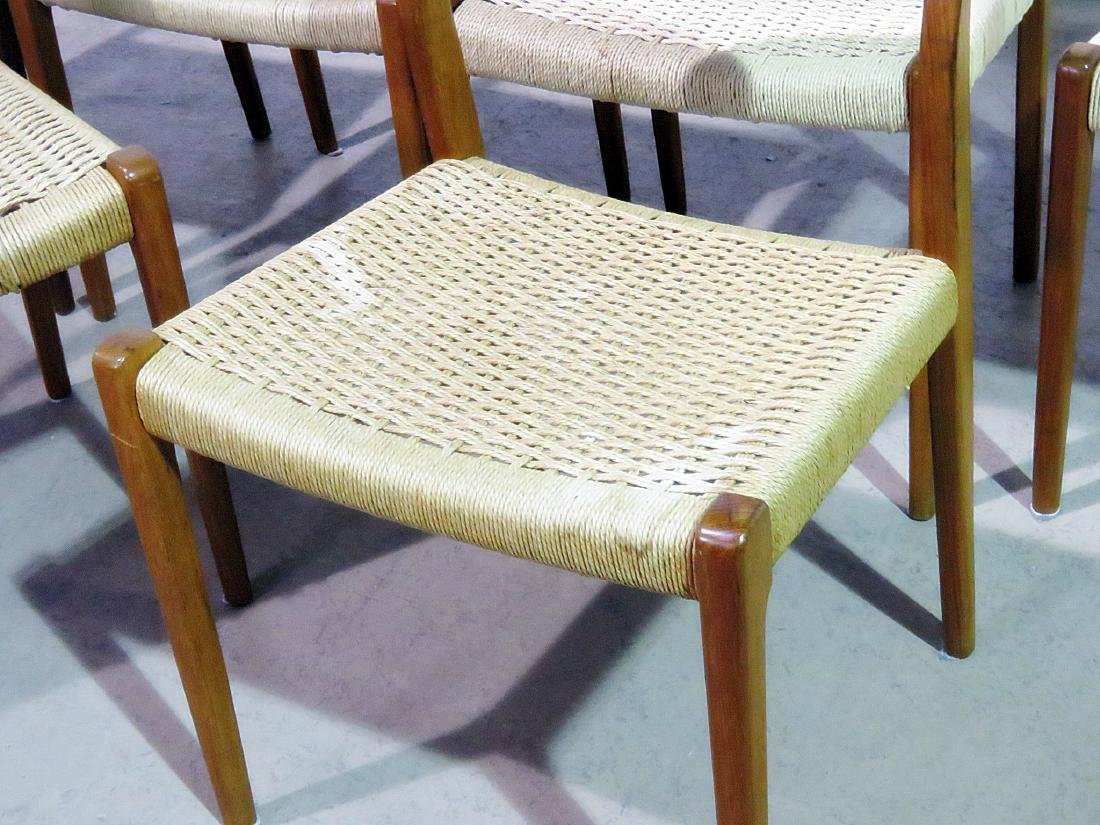 SIX DANISH DINING CHAIRS signed MOLLER - 3