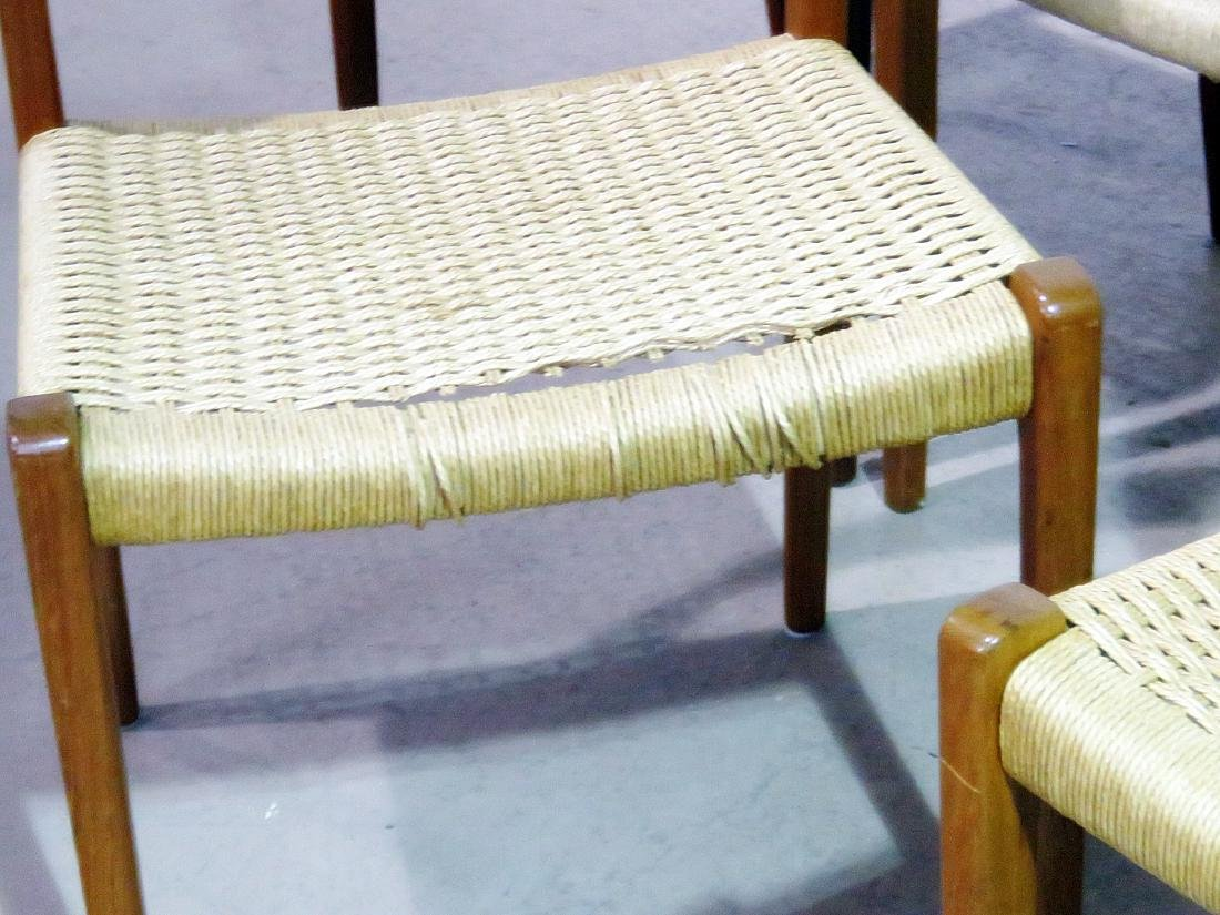 SIX DANISH DINING CHAIRS signed MOLLER - 4