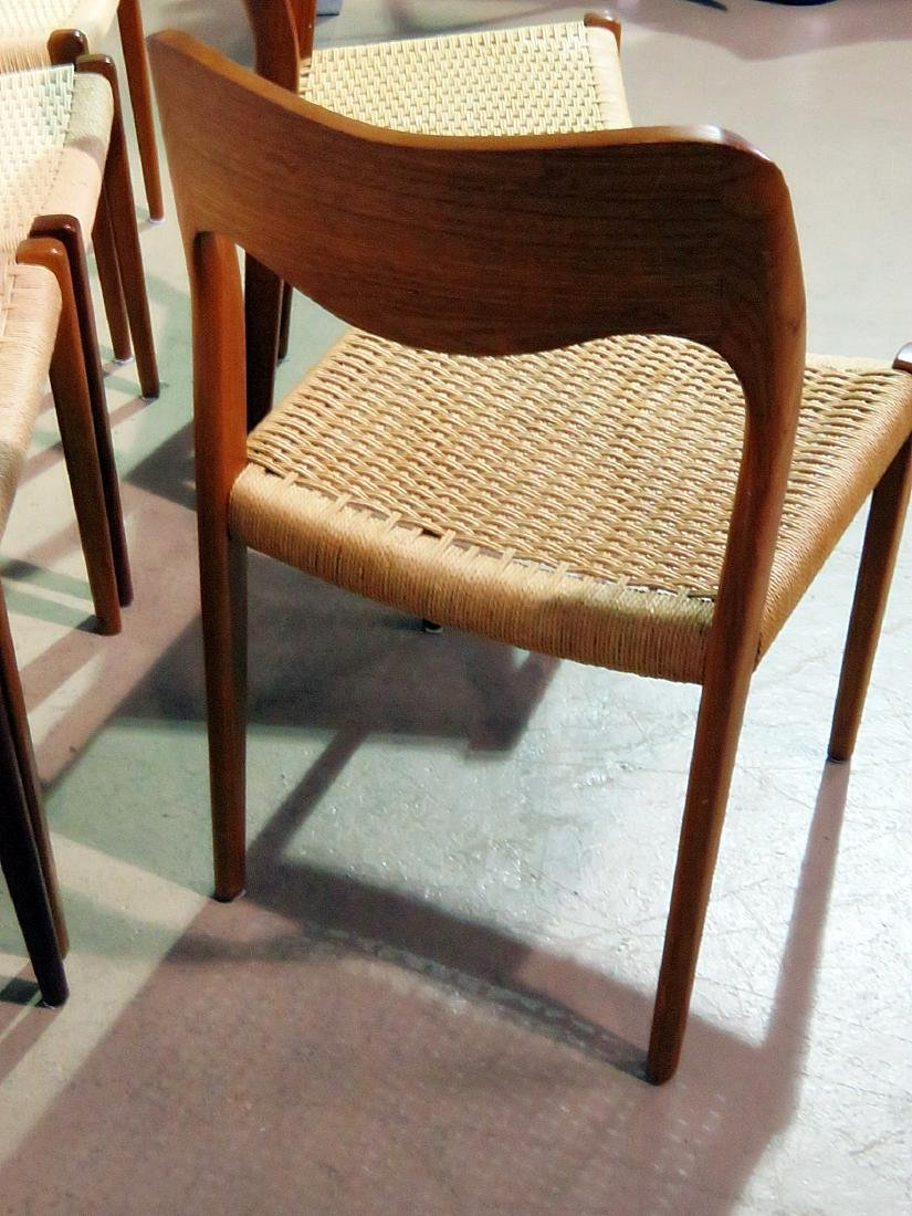 SIX DANISH DINING CHAIRS signed MOLLER - 6